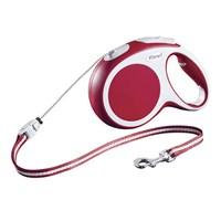 Flexi Vario Cord Kırmızı Köpek Tasması S 8M/12 Kg
