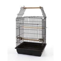 Qhpet Papağan Kafesi Açılır Çatılı Beyaz