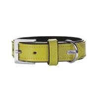 Hunter Yumuşak Dokulu Deri Köpek Boyun Tasması 1,8- 29-35 Cm Yeşil