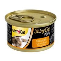 Gimcat Yeni Shinycat Öğünlük Konserve Kedi Maması-Ton balıklı Tavuklu 70gr