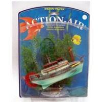Havalı Çarklı Gemi + Plastik Bitki
