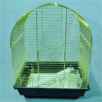 Qhpet Pirinç Telli Oval Çatılı Kuş Kafesi 34,5X28x45,5 Cm