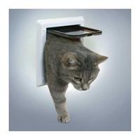 Trixie çift yönlü kitlenebilir kedi kapısı beyaz