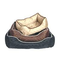 Ranna Lux Dikdörtgen Köpek Yatağı Kahve M 75 x 58 x 19 cm