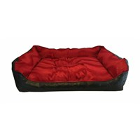 Leos Deri Büyük Irk Köpek Yatağı Kırmızı No:4 95 X 70 X 32 Cm