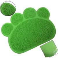 Catmat Pati Desenli Kedi Paspası Yeşil 60X45cm