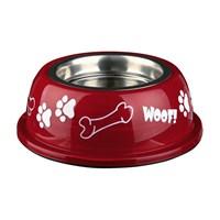 Trixie Köpek Paslanmaz Mama Ve Su Kabı 0.45 lt/ø13 cm Beyaz