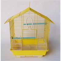 Üçgen Çatılı Kuş Kafesi Sarı