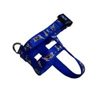 Pet Style Yumuşak Desenli Mavi Köpek Göğüs Tasması 31-41 Cm No:0