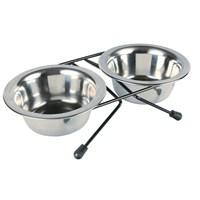 Gardenmix Kedi Paslanmaz Çelik İkili Mama Kabı 1600Ml+1600Ml