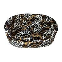 Pet Pretty Tay Tüyü Leopar Desenli Kedi Ve Küçük Irk Köpek Yatağı Medium