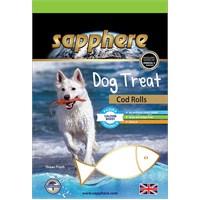 Sapphere Cod Rolls Doğal Kurutulmuş Mezgit Balıklı Köpek Ödülü 75Gr