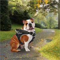 Outdoor Tutacaklı Yansıtıcılı Köpek Göğüs Tasması M Siyah