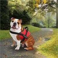 Outdoor Yansıtıcılı Köpek Göğüs Tasması M Kırmızı