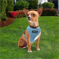 Standart Model Yansıtıcılı Küçük Köpek Göğüs Tasması L Mavi