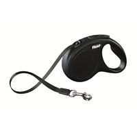 Flexi New Classic 5M Şerit M-L Siyah Otomatik Tasma