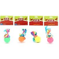 Flip Köpek Oyuncağı Karışık Fosforlu Ve Saçaklı Top