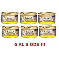 Purina Gourmet Gold Kıyılmış Tavuklu , 85 gr 6 al 5 Öde!
