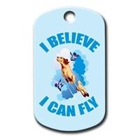 Dalis Pet Tag - I Belıeve I Can Fly Köpek Künyesi (İsimlik)