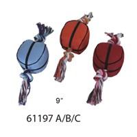 Lion 23Cm Basketball Diş İpli Köpek Oyuncağı Kırmızı