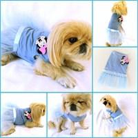 Mınnıe Mouse Tütülü Elbise - Mavi