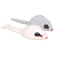 Kedi tüylü sesli peluş fare oyuncak 9cm