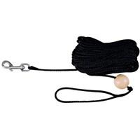Trixie köpek bağlama ve yürüyüş kayışı,15m/ø6mm, siyah