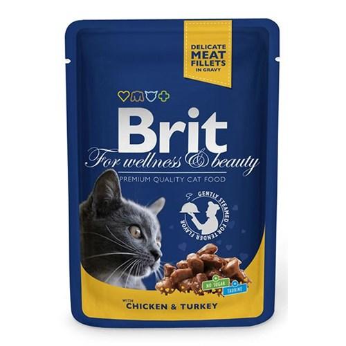 Brıt Premium Tavuk&Hindili Pouch Kedi Maması 100 Gr