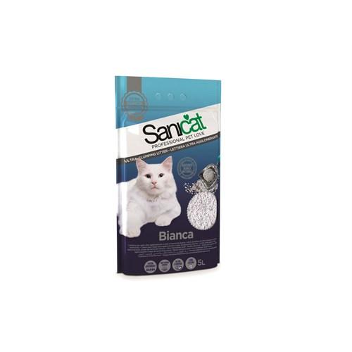 Sanicat Bianca Topaklaşan Kokusuz Emici Doğal Kedi Kumu 5 L