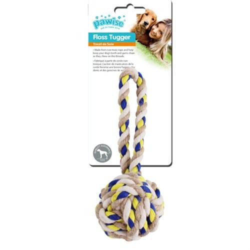 Pawise Floss Tugger Tutma Saplı İp Toplu Köpek Oyuncağı 23 Cm