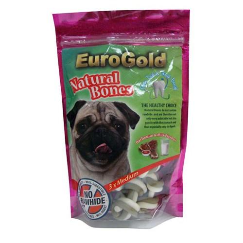 Eurogold Natural Kemik Barbekü - Süt Aroma Orta 3'Lü