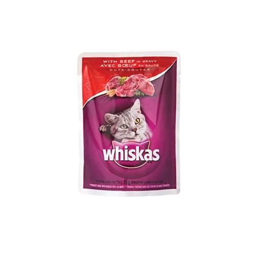 Whiskas Pouch Parça Biftekli 85 Gr * 24'lü