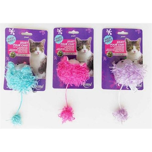 Vitalveto Kedi Otlu Kedi Oyuncağı Yumak Fare 10 cm