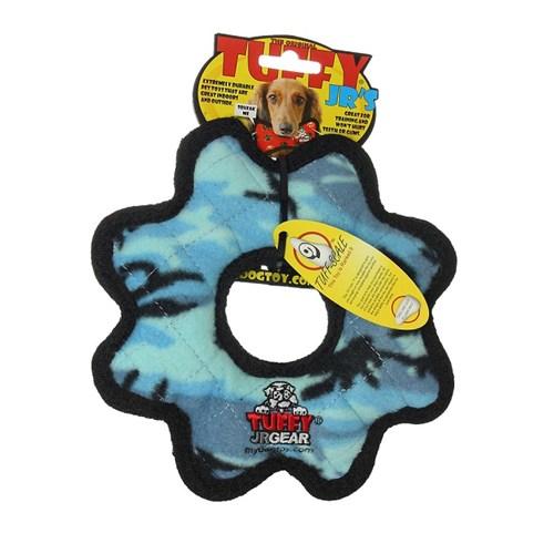 Tuffy Jr Gear Suda Batmayan Dayanıklı Köpek Oyuncağı Mavi