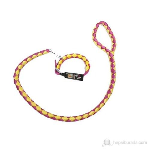 Luxury Paws Örgü Gezdirme Ve Tasma 40cm15mm-120cm16mm Sarı