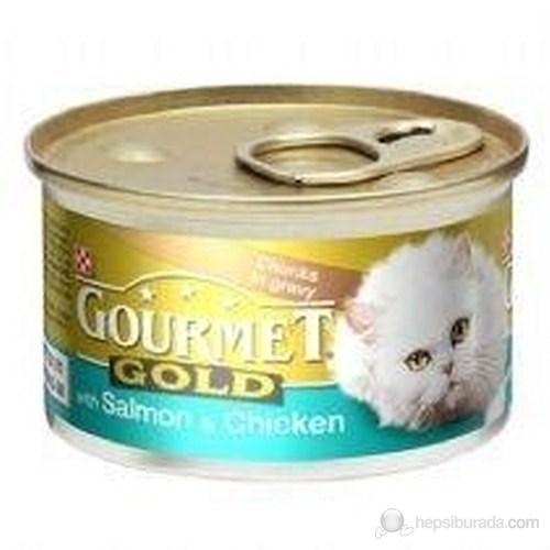Purina ProPlan Gourmet Gold Somonlu Tavuklu Konserve Kedi Maması 85 Gr x 24'lü