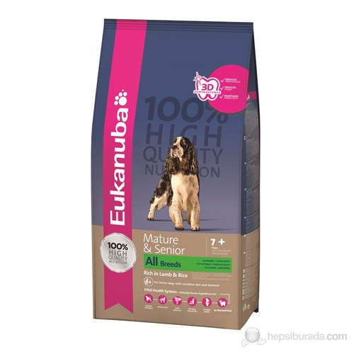 Eukanuba Mature & Senior All Breeds Lamb & Rice 12 Kg Köpek Maması