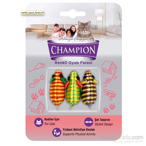 Champion Oyuncak Renkli Küçük Fare 3'lü KK