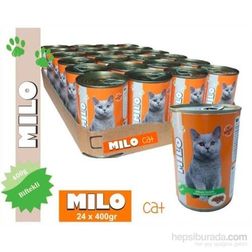 Milo Biftekli Kedi Konservesi 400 gr x 24'lü gk