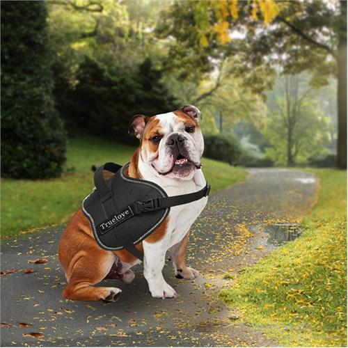 Outdoor Yansıtıcılı Köpek Göğüs Tasması M Siyah