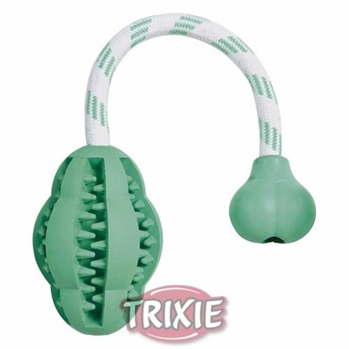 Trixie köpek ipli top oyuncağı , dental 28cm