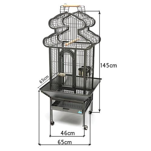 A56 Ayaklı Papağan Kafesi 65,5*65,5*145 Cm