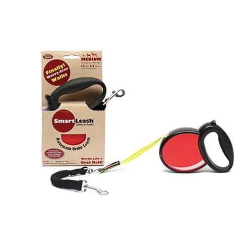 Smart Leash M Kırmızı Otomatik Köpek Tasması