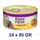 Happy Paws Chicken İn Gravy Tavuk Etli Ve Soslu Yetişkin Kedi Konservesi 80 Gr (24 Adet)