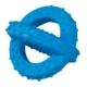 Lastik Sarmal Köpek Oyuncağı (Mavi) 7,5 Cm