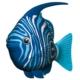 Imaginarium Akvaryum İçin Pilli Balık - Robofısh Blue Wımple
