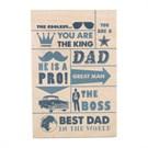Biggdesign Best Dad Ahşap Kartpostal