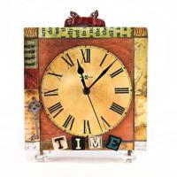 Evlina Home Time Kristal Ayaklı Ahşap Masa Saati