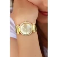 Clariss Sarı Kaplama Tasarımlı Bayan Saat