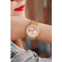 Clariss Sarı Kaplama Pembe İç Tasarımlı Bayan Saat